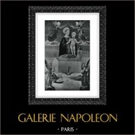 Ange - Vierge Marie - Madone de Lorette - Madonna di Loreto (Saturno di Gatti) | Héliogravure originale d'après Saturno di Gatti. 1946