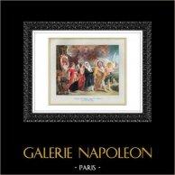 Angel - De vlucht van Lot en zijn gezin uit Sodom - The Fire op Sodom (Eugène Delacroix - Rubens)