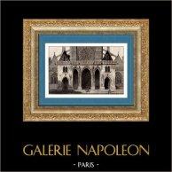 Histoire et Monuments de Paris - L'église Saint Germain l'Auxerrois | Gravure sur acier originale dessinée par Gaucherel, gravée par Lemaitre. 1845