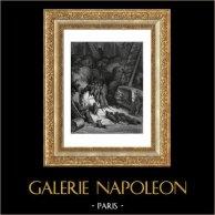 Fables de La Fontaine - La Ligue des Rats (Gustave Doré) | Gravure sur bois originale dessinée par Gustave Doré, gravée par J. Ettlins. 1868