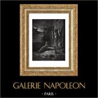 Fables de La Fontaine - Le Renard Anglois (Gustave Doré) | Gravure sur bois originale dessinée par Gustave Doré, gravée par J. Huyot. 1868