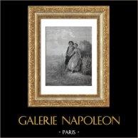 Fables of La Fontaine - Tircis and Amarante (Gustave Doré)