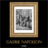 Fables of La Fontaine - The Cobbler and the Financier (Gustave Doré)