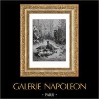 La Fontaines Fabeln - Die Lerche mit ihren Jungen und der Herr des Feldes (Gustave Doré)