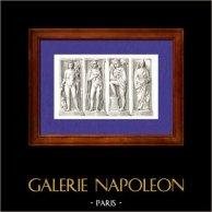 Gaule - Dieux Gaulois - Bas Reliefs - Paris
