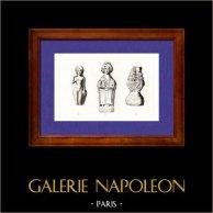 Gallia - Dei Galli - Venus Anadyomene - Venere uscita dalle acque - Iside - Sarapis | Incisione su acciaio originale disegnata da Muret, incisa da Montant. 1845