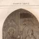 DÉTAILS 01 | Vitrail - Cathédrale de Chartres - XIIIème Siècle - Saint Denis donne l'Oriflamme à Henri de Metz maréchal de France