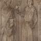 DÉTAILS 02 | Vitrail - Cathédrale de Chartres - XIIIème Siècle - Saint Denis donne l'Oriflamme à Henri de Metz maréchal de France