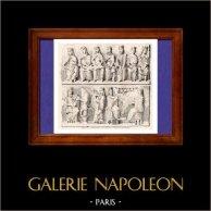 Concert - Musical Instruments - XIth Century - France - Saint Georges de Boscherville Abbey