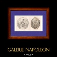 Siegelen von Robert II. von Frankreich - Robert der Fromme - Heinrich I. of Frankreich - XI. Jahrhundert - Frankreich