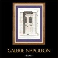 Dessin d'Architecte - Architecture - Menuiserie - Porte - Parc des Buttes Chaumont à Paris (G. Davioud)