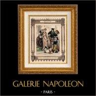 Moda Francesa y Trajes - Siglo 16 - Siglo XVI - Nobleza - Cacería - Caza - Paje