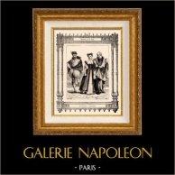 Franse mode en kostuums - 16e Eeuw - XVIe Century - Bourgeoisie