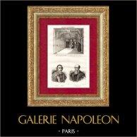 Cour de Cassation de Paris - Portraits de Mathieu Molé (1781-1855) et Michel de l'Hospital (1505-1573) | Gravure sur acier originale dessinée par Couché. 1835