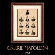 Terza Repubblica Francese - Governo di Charles Floquet (3 aprile 1888 - 14 febbraio 1889) | Incisione xilografica originale disegnata da E. Wiethoff. 1890