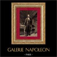 Portrait de Sadi Carnot - 4ème Président de la Troisième République française (1887-1894) | Gravure sur bois originale dessinée par H.M., gravée par F.M.. 1890
