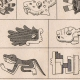 DÉTAILS 02   Mexique - Almanach Aztèque - Mexica - Hiéroglyphes