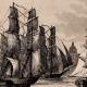 DÉTAILS 01   États-Unis d'Amérique - Vue de Boston - Voilier - Départ de la Flotte Anglaise
