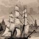 DÉTAILS 02   États-Unis d'Amérique - Vue de Boston - Voilier - Départ de la Flotte Anglaise