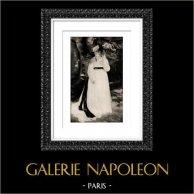 Lise à l'Ombrelle (Auguste Renoir) | Héliogravure originale d'après Auguste Renoir. 1944