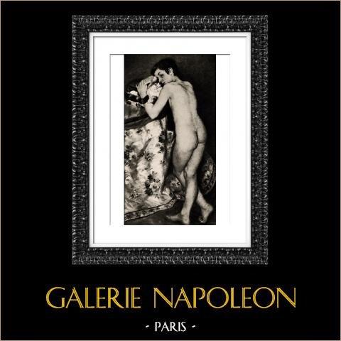 Jeune Garçon au Chat (Auguste Renoir) | Héliogravure originale d'après Auguste Renoir. 1944