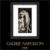 Jeune Garçon au Chat (Auguste Renoir) | Original helio grabado segùn Auguste Renoir. 1944