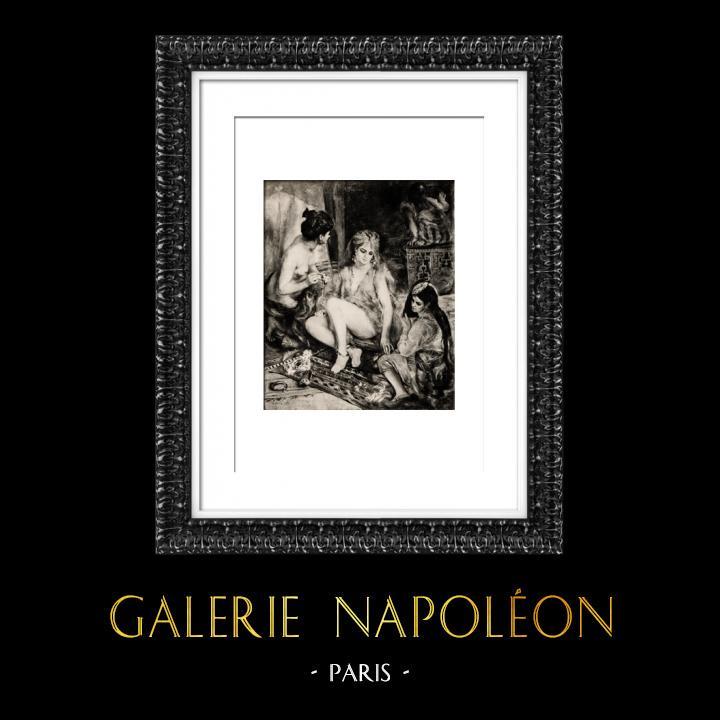 Gravures Anciennes & Dessins | Algérie - Parisiennes Habillées en Algériennes (Auguste Renoir) | Héliogravure | 1944