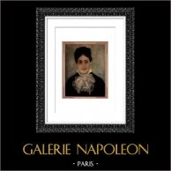 Portrait de Madame Fournaise - La Femme au Sourire (Auguste Renoir)   Héliogravure originale d'après Auguste Renoir. 1944