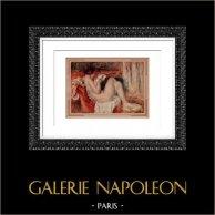 Desnudo Femenino - Femme Nue Etendue Lisant (Auguste Renoir)