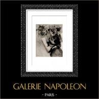 Paris - Place Pigalle (Auguste Renoir)   Original heliogravure after Auguste Renoir. 1944