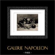 Natura Morta - Nature Morte à la Grenade - Frutti (Auguste Renoir) | Incisione heliogravure originale secondo Auguste Renoir. 1944