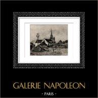 Près de Pont-Aven (Auguste Renoir)   Héliogravure originale d'après Auguste Renoir. 1944