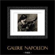 Mujer Española que Juega de la Guitarra (Auguste Renoir)