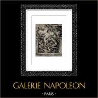 La Saone et le Rhone - Weiblicher Akt - Erotica - Curiosa (Auguste Renoir) | Original heliogravüre nach Auguste Renoir. 1944