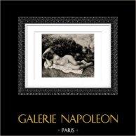 Nu Féminin - La Boulangère (Auguste Renoir)   Héliogravure originale d'après Auguste Renoir. 1944