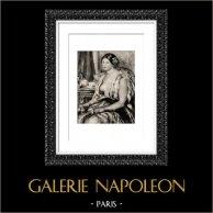 Orientalisme - Jeune Femme en Costume Oriental devant une Tasse de Thé (Auguste Renoir)