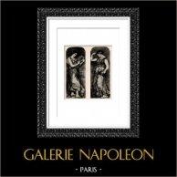 Dancers - Danseuses aux Castagnettes et au Tambourin (Auguste Renoir)