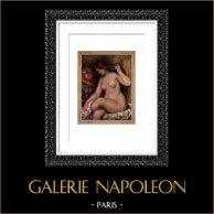 Bath - Art Nude - Grande Baigneuse au Chapeau (Auguste Renoir)