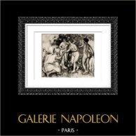 Giudizio di Paride (Auguste Renoir) | Incisione heliogravure originale secondo Auguste Renoir. 1944