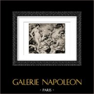 Bath - Art Nude - Groupe de Baigneuses (Auguste Renoir)