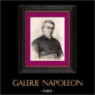 Portrait de Mgr Vital Justin Grandin (1829-1902) - Evêque - Missionnaire - Alberta - Canada | Gravure sur bois originale dessinée par Pann. 1896