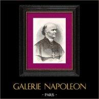 Portrait de Mgr Jolivet - Evêque - Natal  - Afrique  du Sud - Missionnaires catholiques | Gravure sur bois originale gravée par Pan. 1896