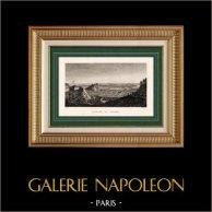 Guerres Napoléoniennes - Campagne de Russie - Napoléon Franchit le Fleuve Niémen (24 juin 1812) | Gravure sur acier originale dessinée par Bagetty, gravée par Couché fils. 1860