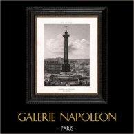 Vista di Parigi - Place de la Bastille - Colonne de Juillet - Colonna di Luglio
