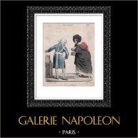 Caricature - Paris - Il est seul Madame