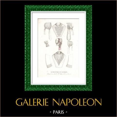 Franse Modeprent - 19e eeuw - 1850 - Lingerie - Le Moniteur de la Mode |
