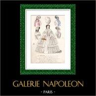 Grabado de Moda Francesa - Siglo 19 - 1850 - Lingerie - Lencería -  Le Sylphe