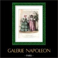 French Fashion Plate - 19th Century - 1850 - Lingerie - Le Moniteur de la Mode