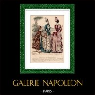 Francuska Płyta Mody - XIX Wiek - 1850 - Bielizna - le Moniteur de la Mode