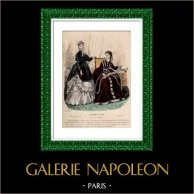 Französische Modedrucke - 19. Jahrhundert - 1850 - Le Moniteur de la Mode